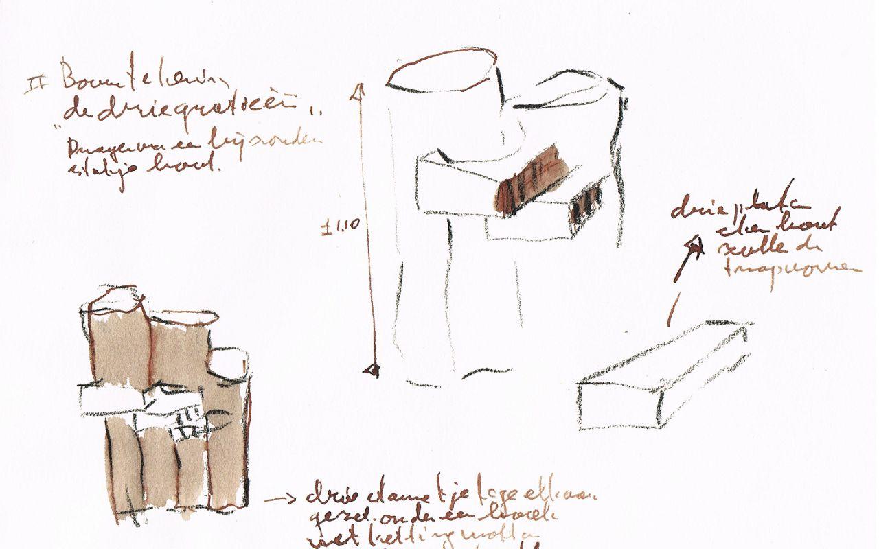 de drie gratieën bouw/werktekening 1
