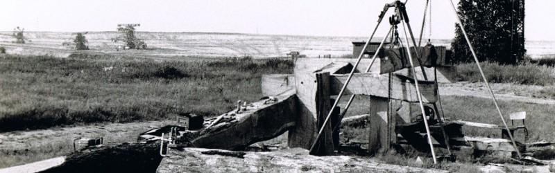 zwevend vierkant bruinkoolmijnen Pritsen Duitsland